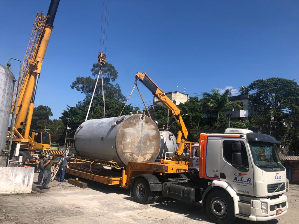 banner - transporte de máquinas pesadas